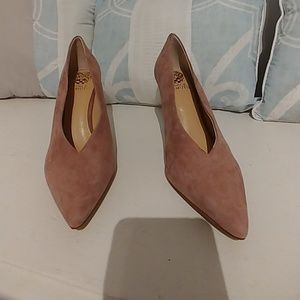 Vince Camuto pink suede shoes